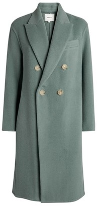Vince Wool-Blend Double-Breasted Coat