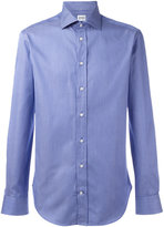 Armani Collezioni fine stripe shirt - men - Cotton - 41