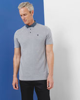 ZACCTT Geo print collar polo shirt