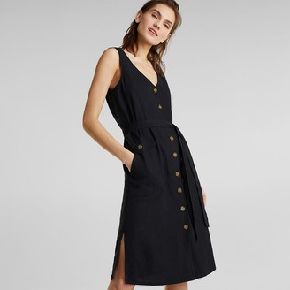 Esprit Sleeveless Mid-Length Dress in Linen Mix