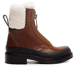 Chloé Women's Roy Shearling-Lined Leather Combat Boots