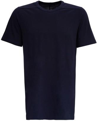 Rick Owens Blue Cotton Short Sleeved T-shirt