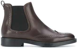 Tod's Brogue Chelsea Boots