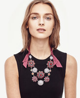 Ann Taylor Jeweled Ribbon Necklace