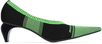 Misbhv Striped Knit Sock Pumps