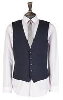 Burton Mens Navy Slim Fit Essential Waistcoat with Stretch