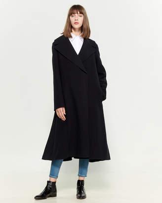 Jil Sander Dark Blue Wool Oversized Coat