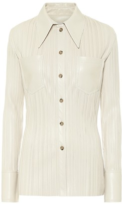 Nanushka Blaine pleated faux leather shirt