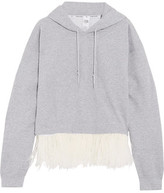 Opening Ceremony Feather-Trimmed Hooded Top