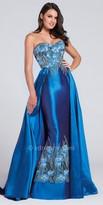 Ellie Wilde for Mon Cheri Strapless Sweetheart Taffeta Gown with Detachable Over Skirt