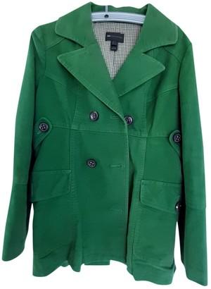 MANGO Green Cotton Jacket for Women