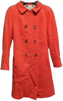 Aquascutum London Orange Wool Coat for Women