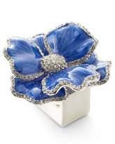 Nomi K Floral Crystal Napkin Rings, Set of Four, Blue
