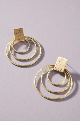 Sibilia Spotted Hooped Post Earrings