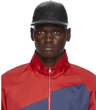 Gucci Black Leather GG Cap