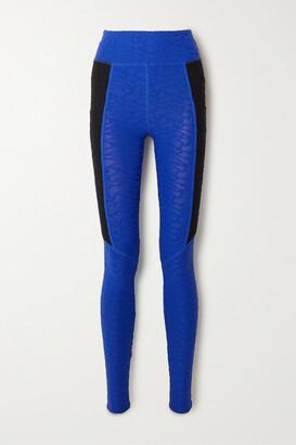 Twenty Montreal Connect 3d Stretch Jacquard-knit Leggings - Blue