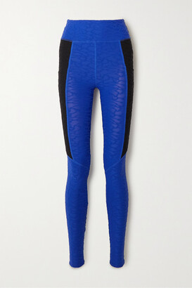 Twenty Montréal TWENTY Montreal - Connect 3d Stretch Jacquard-knit Leggings - Blue