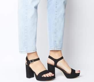 Office Must Have Platform Sandals Black