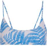 Mikoh Hermosa Printed Bikini Top - Azure