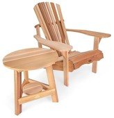 Adirondack Ardoin Tripod Wood Chair with Table Union Rustic