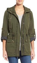 Women's Levi's Parachute Hooded Cotton Utility Jacket