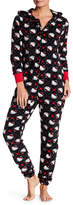 Hello Kitty Plush Hooded Jumpsuit
