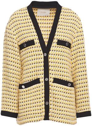 Maje Visidore Metallic Cotton-blend Tweed Jacket