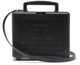 Balenciaga Lunch Box Bb-embossed Cross-body Bag - Black