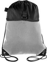 Mato & Hash Drawstring Cinch Bag Backpack With Mesh Pocket Tote Sack 2PK