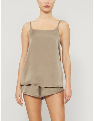 ASCENO Venice silk-satin pyjama shorts