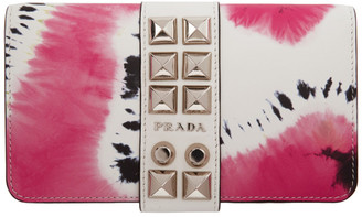Prada SSENSE Exclusive White Tie-Dye Chain iPhone XR Case