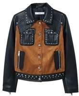 MANGO Studded mixed jacket