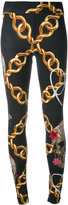 Philipp Plein chain print leggings - women - Cotton/Spandex/Elastane - XS