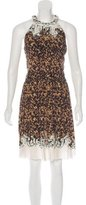 Roberto Cavalli Abstract Print Sleeveless Dress