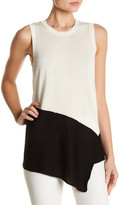 Anne Klein Asymmetrical Sleeveless Sweater