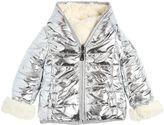MonnaLisa Reversible Nylon & Faux Shearling Jacket
