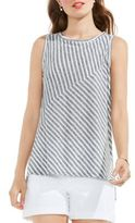 Two by VINCE CAMUTO Striped Heathered Tank Top