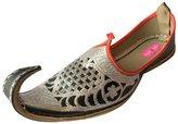 Step n Style Men's Handmade Leather Jutti Mojari Flip Flops Punjabi Aladdin Khussa