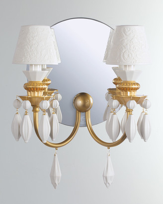Lladro Belle de Nuit 2-Light Wall Sconce Gold
