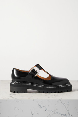 Proenza Schouler Glossed-leather Pumps - Black