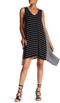 Max Studio Sharkbite Stripe Tank Dress