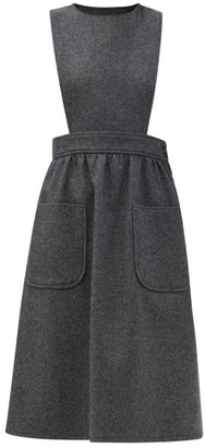 Gucci Patch-pocket Wool Pinafore Dress - Grey