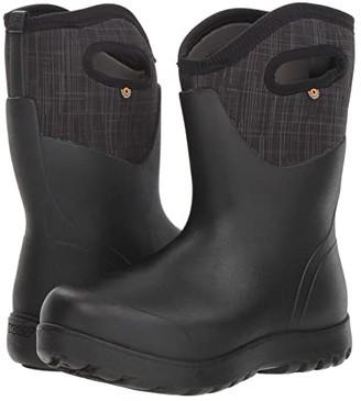 Bogs Neo-Classic Mid Linen (Black Multi) Women's Rain Boots