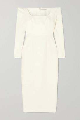 Emilia Wickstead Birch Off-the-shoulder Cloque Midi Dress - Ivory