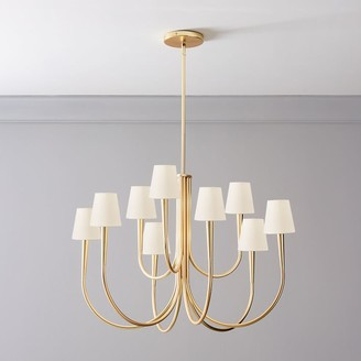 west elm Swoop Arm Chandelier with Shades