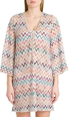 Missoni Short Tunic Dress With Zigzag Motif