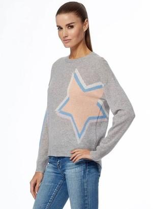 360 Cashmere Estella Cashmere Sweater - Grey / Cantaloupe / XS