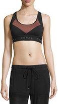 Koral Activewear Emblem Versatility Colorblock Sports Bra, Sandstone/Black