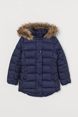 H&M Padded hooded coat