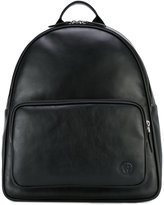 Giorgio Armani logo patch backpack - men - Calf Leather - One Size